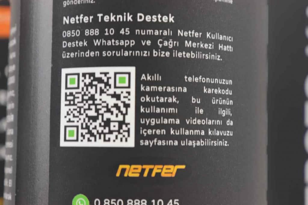 Netfer pasta çizik giderici destek hattı